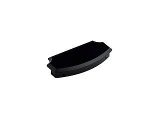 End cap for handrail, black
