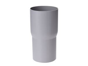 Downspout connector sleeve 90 mm grey