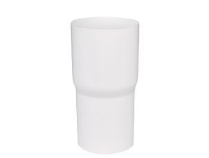 Downspout connector sleeve 75 mm white