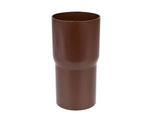 Downspout connector sleeve 90 mm brown