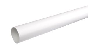 Downspout 75 mm white 3 m
