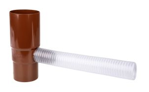 Water outlet w. flexible hose 75 mm brown
