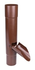 Water exhaust w. flap 110 mm brown