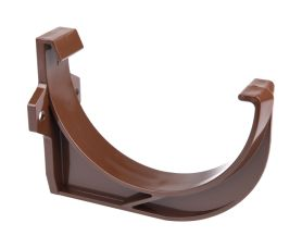 Plastic mounting bracket size 10 brown