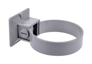 Clamp for plastic pipe 75 mm grey (2 per pack)