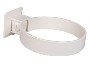 Clamp for plastic pipe 110 mm white (2 per pack)