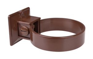 Clamp for plastic pipe 90 mm brown (2 per pack)